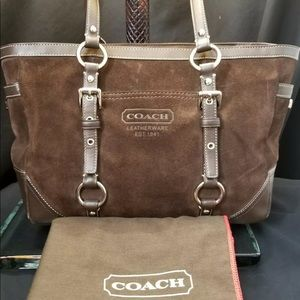 Coach Suede Madison tote